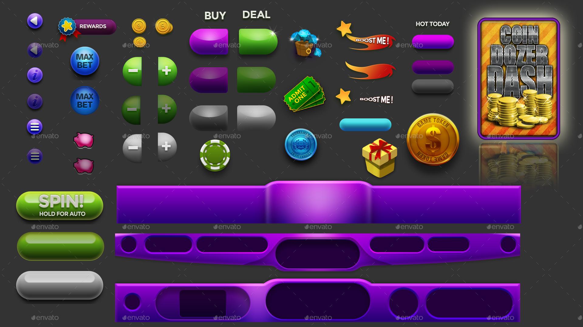 """Slot """"O"""" Vaganza - Slot Game HUD Animated Assets"""