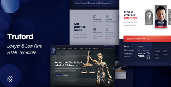 Truford - Lawyer, Law Firm, Attorney Business HTML Template