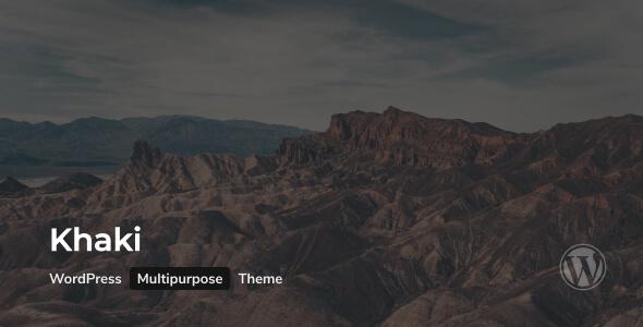 Khaki | Responsive Multi-Purpose WordPress Theme