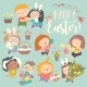 Children with Easter Theme - GraphicRiver Item for Sale