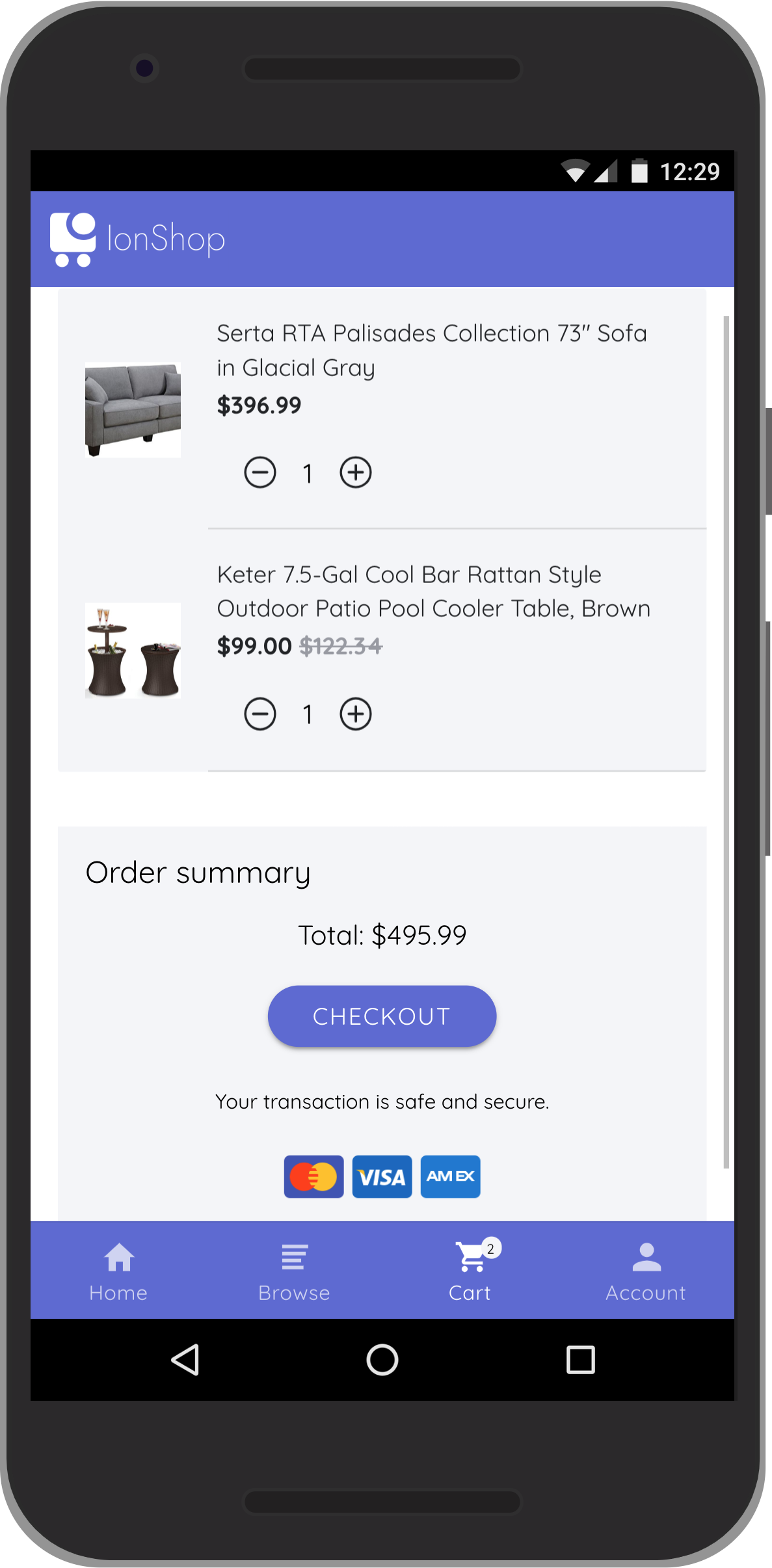 IonShop 2 - Ionic 4 Template + Admin Portal for e-commerce based apps