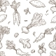Root Food Sketch Seamless Pattern - GraphicRiver Item for Sale
