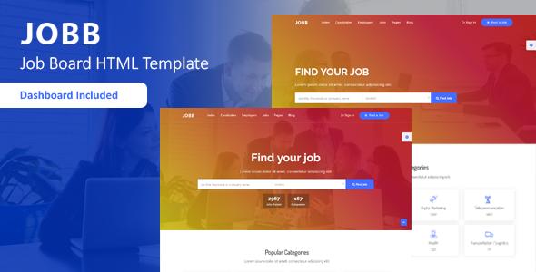 Fabulous JOBB - Job Board HTML Template