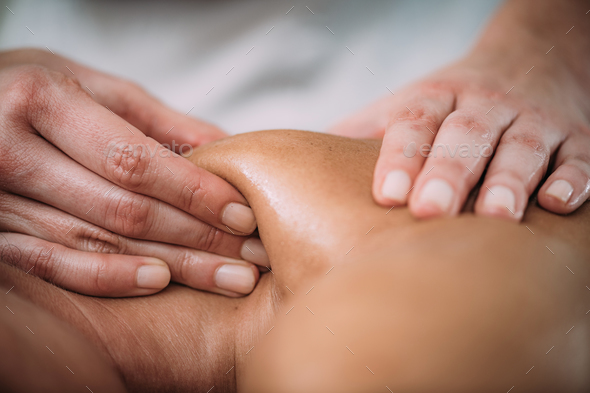 Shoulder blade Sports Massage Therapy - Stock Photo - Images
