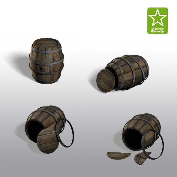 Barrels - 3DOcean Item for Sale