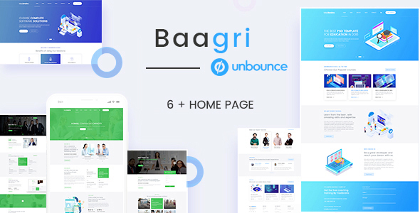 Baagri - Multipurpose Lead Generation Landing Pages by TheMadBrains_UIUXStudio