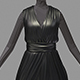 Women summer long black dress high heel shoes - 3DOcean Item for Sale