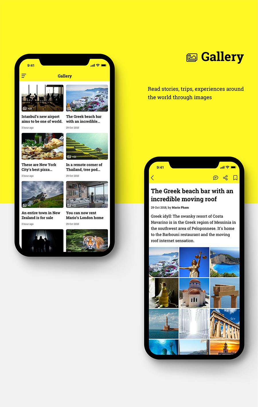 Zapes - News and Blog UI kit