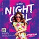 Night Girl Party Flyer - GraphicRiver Item for Sale