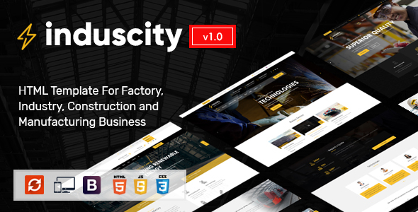 Induscity - Industry and Construction HTML Template by SteelThemes