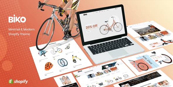 BIKO - Bicycle Store Responsive Shopify Theme Sections Ready