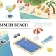 Isometric Summer Vacation Concept - GraphicRiver Item for Sale