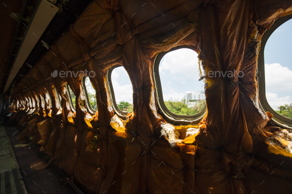 Derelict Aircraft - Stock Photo - Images