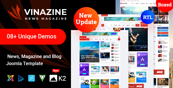 Vinazine - Joomla News Magazine Template