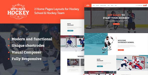 Let's Play   Hockey School & Winter Sports WordPress Theme