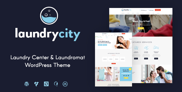 Laundry City | Dry Cleaning & Washing Services WordPress Theme