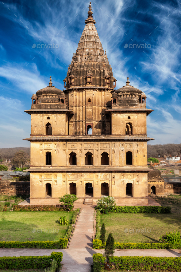 Royal cenotaphs of Orchha - Stock Photo - Images