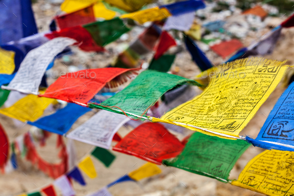 Tibetan Buddhism prayer flags lungta