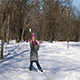 Little Caucasian Girl Having Fun in Winter City Park - VideoHive Item for Sale