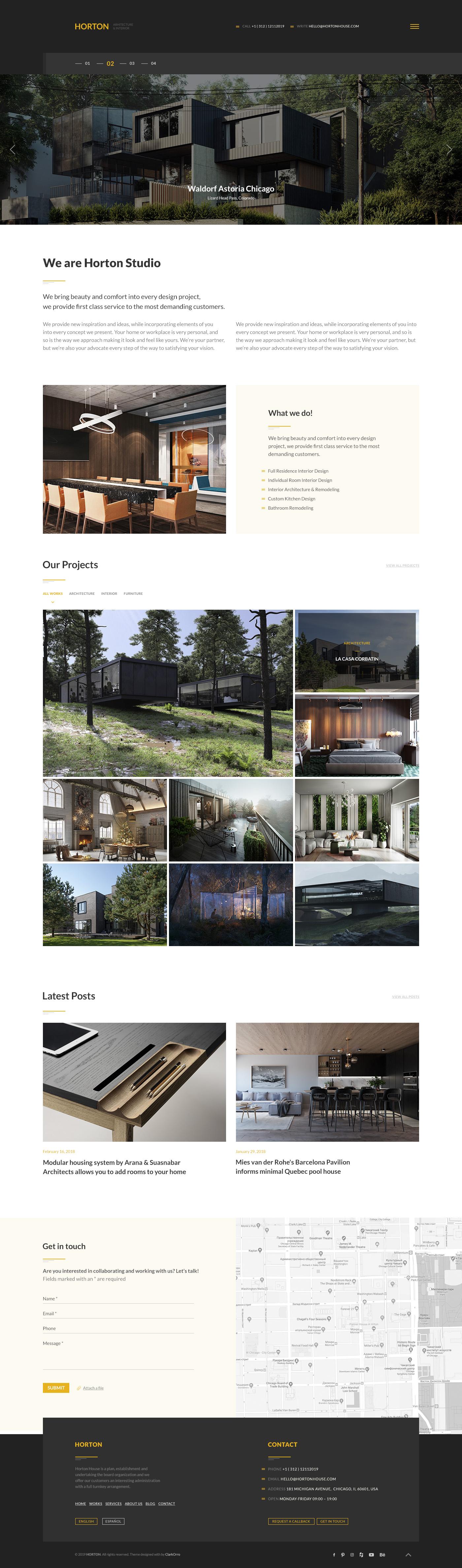 Horton | Architecture & Interior PSD Template