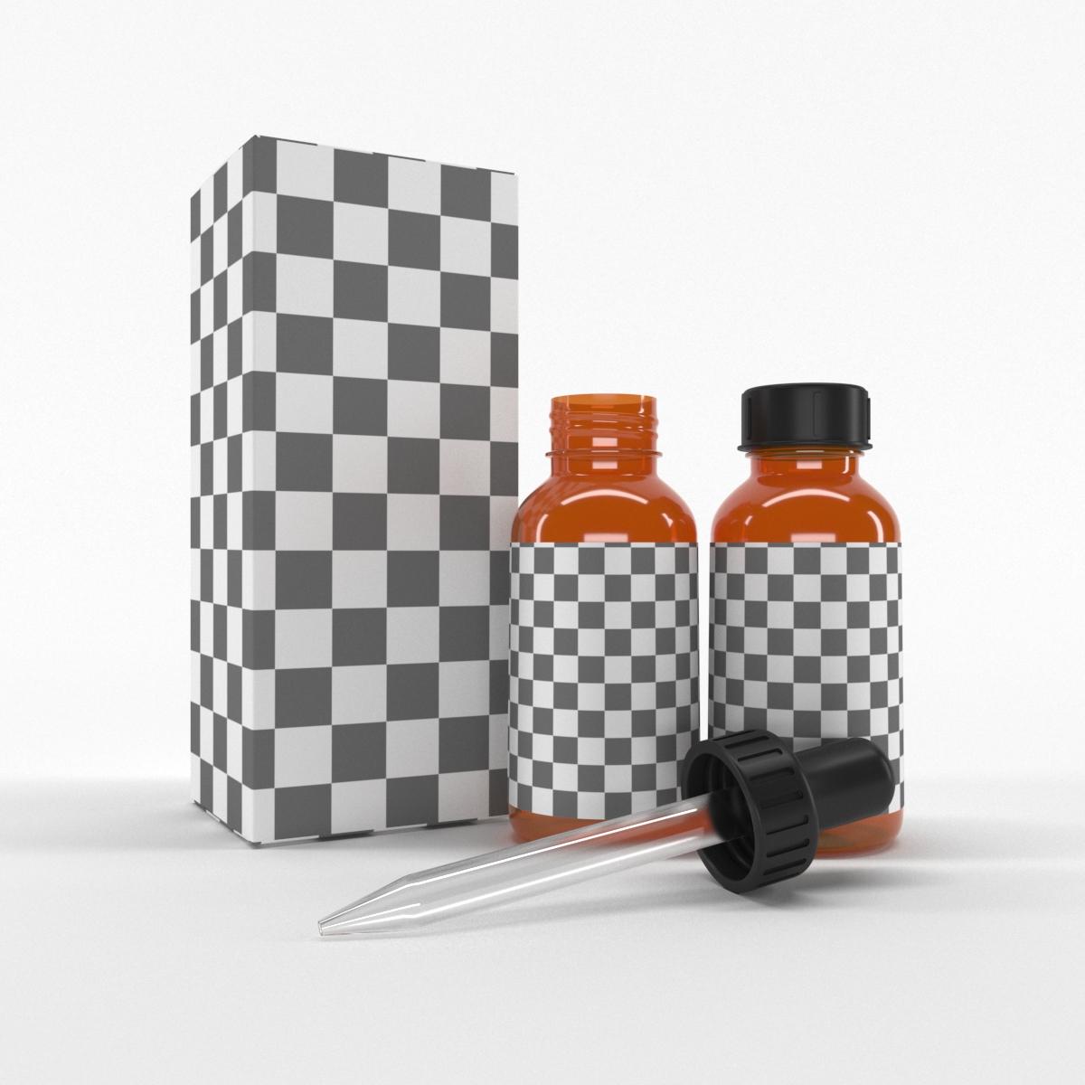 Dropper Bottle & Box 3D model