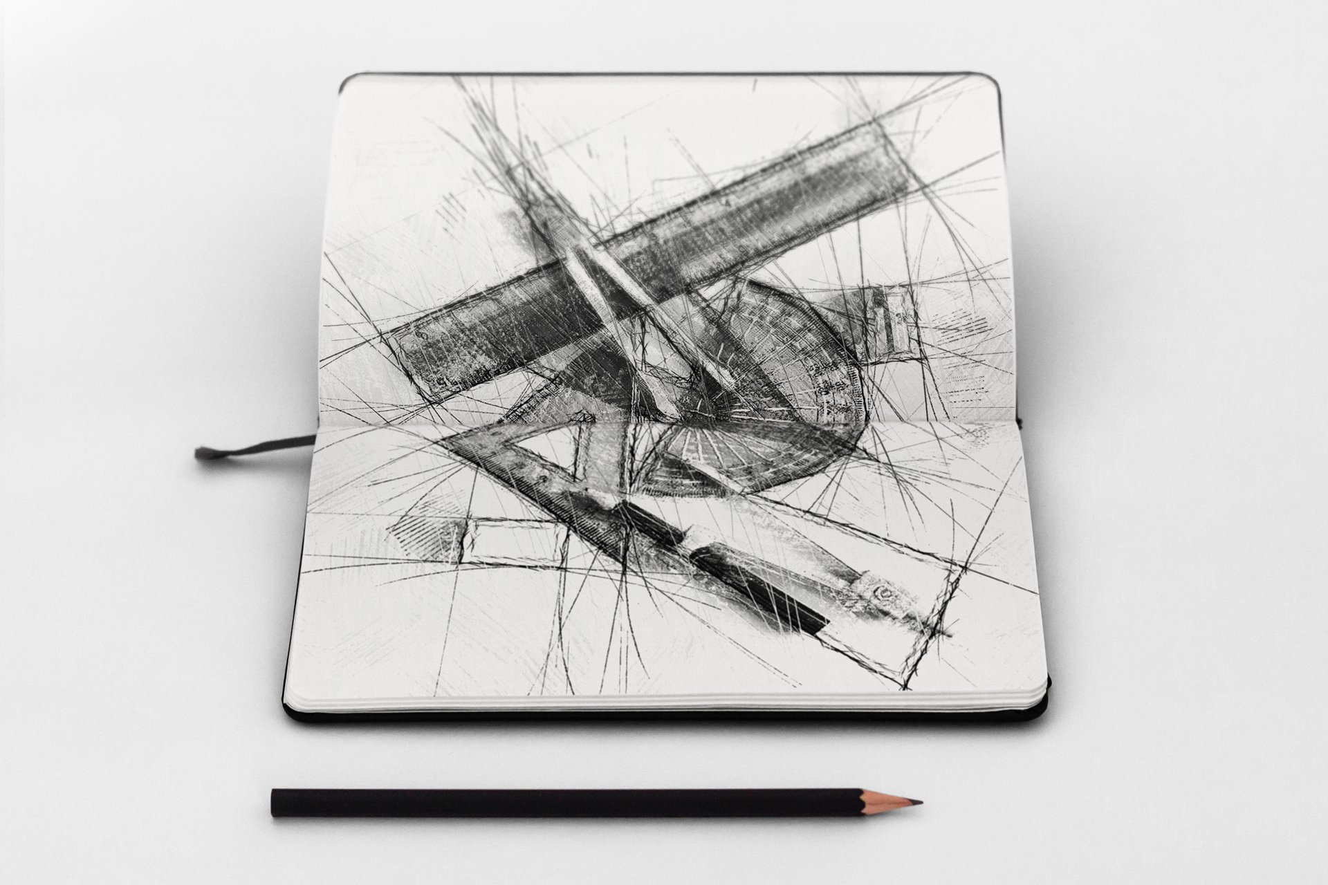 05 pencil sketch automatic architecture art artwork brush real realistic fx photoshop action script add on extension animated cc cs png