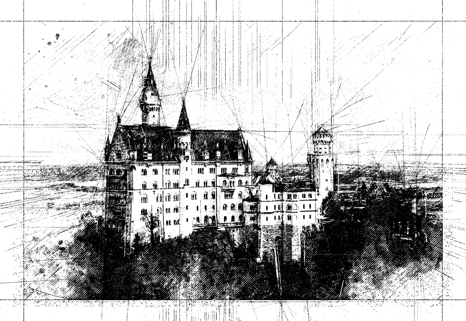 18 pencil sketch automatic architecture art artwork brush real realistic fx photoshop action script add on extension animated cc cs png