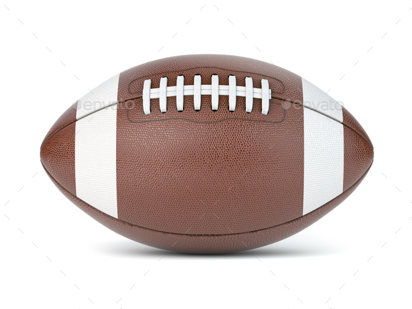 American football ball isolated on white background. - Stock Photo - Images