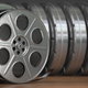 Video, cinema, movie, multimedia concept. A row of vintage film - PhotoDune Item for Sale