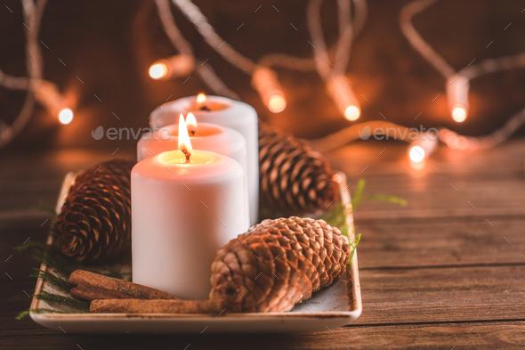 Winter cozy decoration - Stock Photo - Images