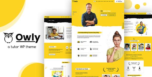 Owly – Tutor & Teacher WordPress Theme Free Download