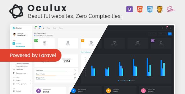 Oculux UI -  Laravel Admin Dashboard Template