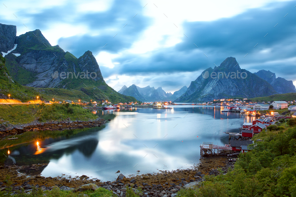 Reine, Lofoten Island - Stock Photo - Images