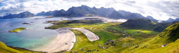 Lofoten Islands panorama - Stock Photo - Images