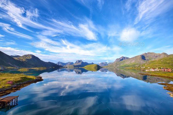Lofoten Islands landscape - Stock Photo - Images