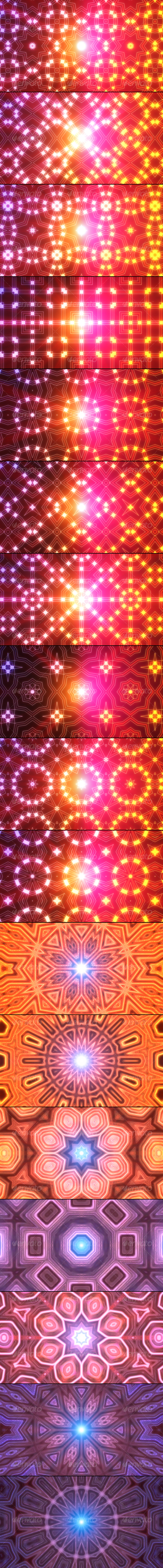 Kaleidoscopic backgrounds Mega Pack - Abstract Backgrounds