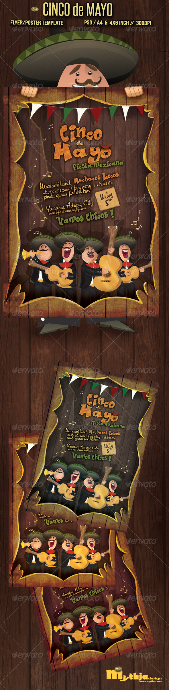 Cinco de Mayo - Flyer/Poster Template - Flyers Print Templates