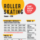 Roller Skating Schedule Poster - GraphicRiver Item for Sale