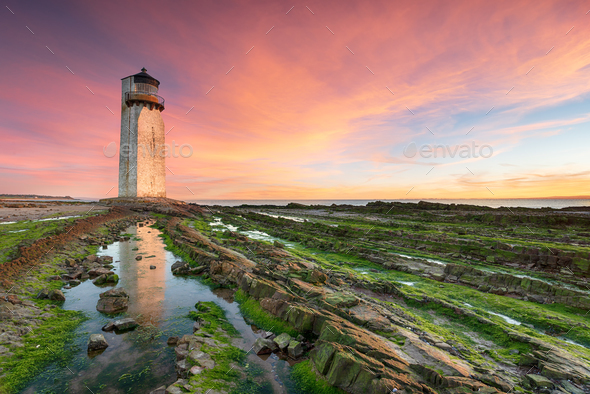 Sunrise at Southerness - Stock Photo - Images
