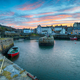 Sunset over Portsoy a fishing village in Aberdeenshire on the east coast of Scotland - PhotoDune Item for Sale