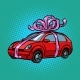 Car Gift Transport Tied with Festive Ribbons - GraphicRiver Item for Sale