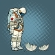 Guilty Astronaut Looks at the Ruined Moon - GraphicRiver Item for Sale