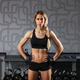 young blonde sportswoman in gym interior - PhotoDune Item for Sale