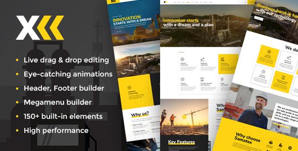 Samatex - Industrial WordPress Themes