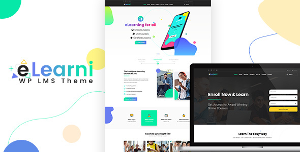 Elearni – Education and LMS WordPress Theme Free Download