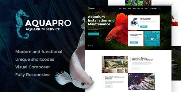 AquaPro | Aquarium Installation and Maintanance Services WordPress Theme + Store