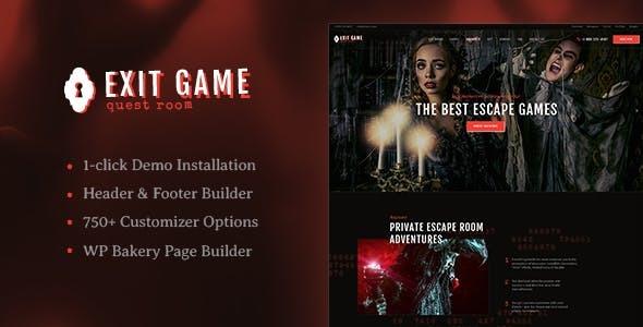Exit Game | Real-Life Secret Escape Room WordPress Theme