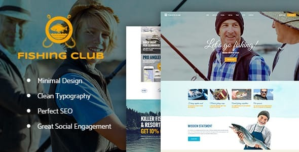 Download Fishing and Hunting Club WordPress Theme nulled