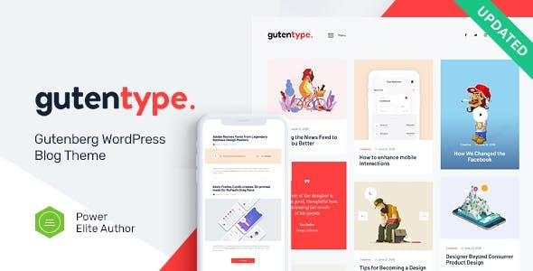 Gutentype | 100% Gutenberg WordPress Theme for Modern Blog Free Download | Nulled