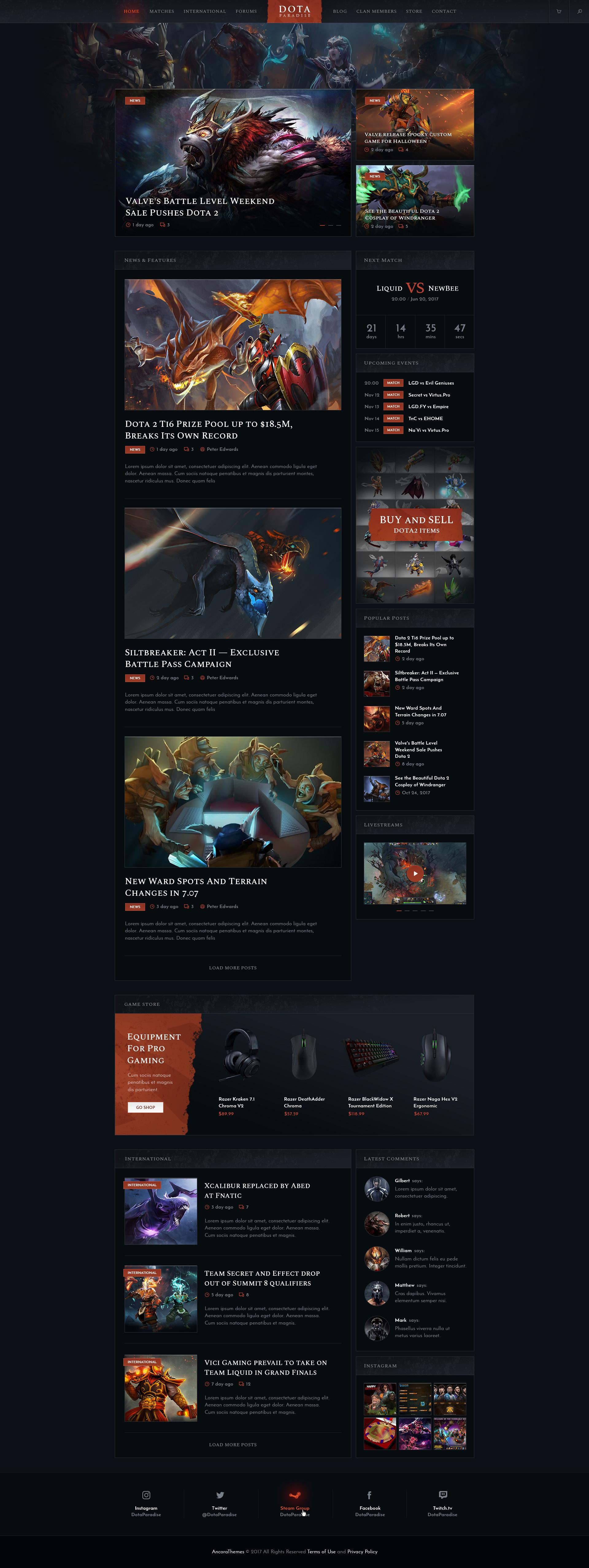 Ludos Paradise   Gaming Blog & Clan WordPress Theme